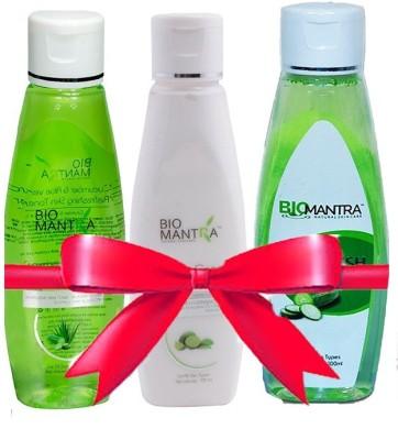 BioMantra Lotion Set Of Cleanser,Astringent,Toner