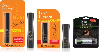Blue Heaven Fashion Eyeliner, Mascara & Herbal Kajal Combo
