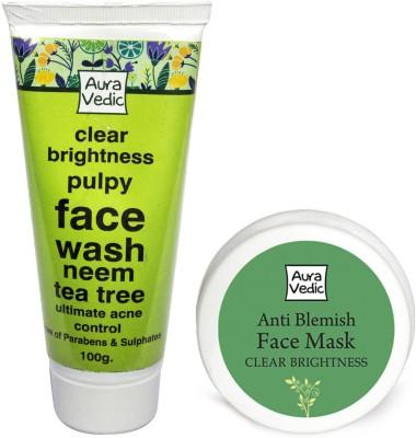 Auravedic Clear Skin Mask & Face Wash Combo
