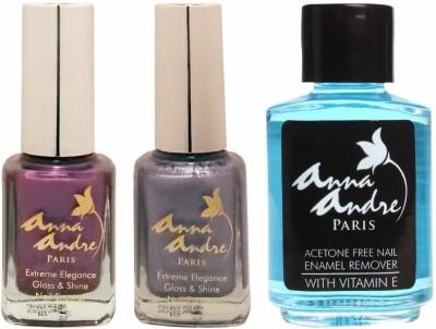 Anna Andre Paris Nail Polish - Purple Princess Duo Set & Nail Polish Remover