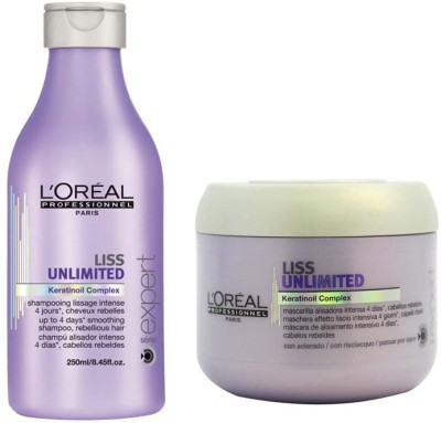 L,Oreal Paris Liss Unlimited Keratinoil Complex Shampoo with mask
