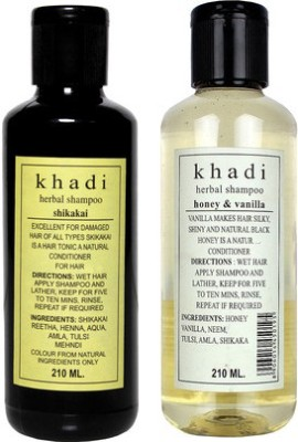 Khadi Herbal Shampoo Combo-8