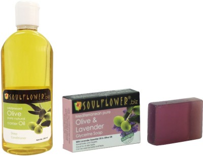 Soulflower Olive Oil And Soap Combo 1