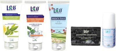 Lass Naturals Men's Natural Grooming Product Kit