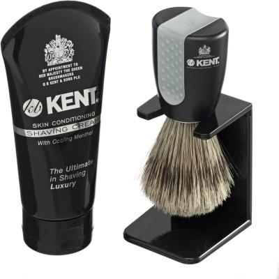 Kent Wet-Set Shaving Brush & Shaving Cream Set