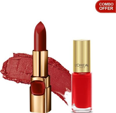 L,Oreal Paris Color Riche Lip Color with Color Riche Nail Polish