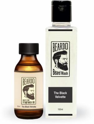 Beardo The Black Velvette Beard Oil (30ml) & Wash Combo (100ml)