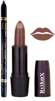 Rythmx Brown Lipstick And Pro Non Transfer Black Kajal 38103