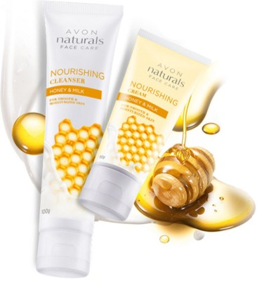 Avon Nourishing Honey & Milk cleanser (100g) + Cream (50g)
