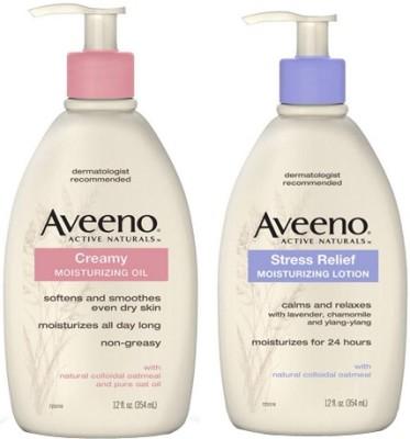 Aveeno Creamy Moisturizing Oil and Stress Relief Moisturizing Lotion