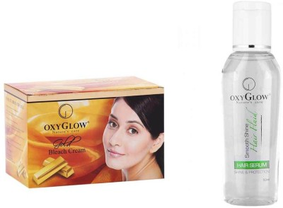 Oxyglow Gold Bleach Cream & Hair Serum