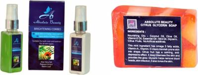 Absolute Beauty Skin Care Brightening Facewash Fairness Cream Serum For Dull Dark Skin + Citrus Soap