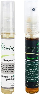 Glowing Buzz Combo of 1 Nourishment Vitamin E Oil and 1 Neem Essential Oil