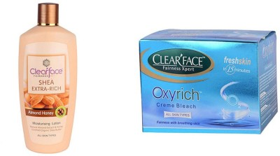 Clear Face Shea Extra Rich Almond Honey & Oxyrich Cream Bleach