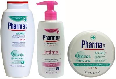 Pharma Line Atopic(Alergic Skin) Shower Gel & Sensitive Intimate Gel & Wrinkle Control Hand Cream