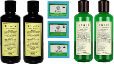 Khadi Herbal Combo- shampoo, Soap & Face wash
