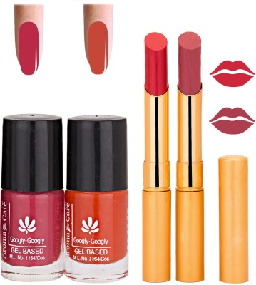 Aroma Care Nail Polish Red Lipstick Combo 036