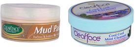 Clear Face Mud Pack & Cool Cool Mint Cleanser