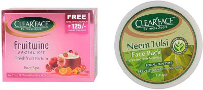 Clear Face Fruit Wine Facial Kit & Neem Tulsi