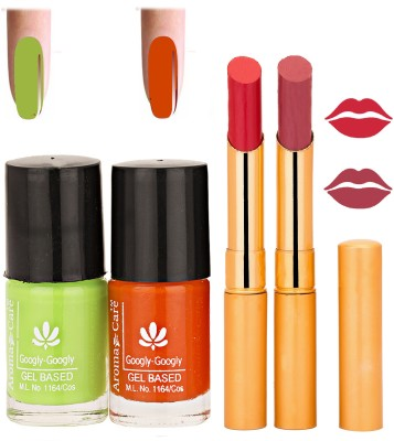Aroma Care Nail Polish Red Lipstick Combo 034