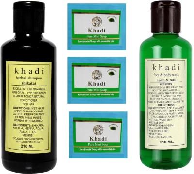 Khadi Herbal Combo- Shampoo, Soap & Face Wash