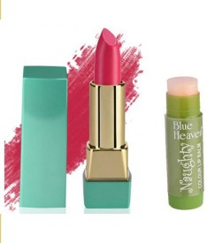 Blue Heaven Mintz Glossy Lipstick (Desert Rose) & Naughty Color Lip Balm (Magic)