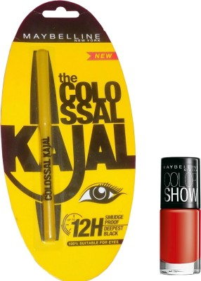 Maybelline Colossal Kajal Plus Color Show Nail Lacquer