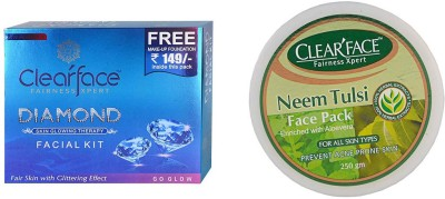 Clear Face Daimond Facial Kit & Neem Tulsi