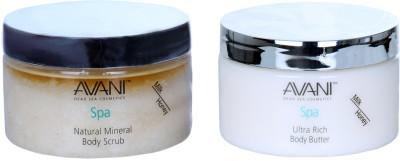 Avani Natural Mineral Body Scrub And Ultra Rich Body Butter (Milk/Honey)