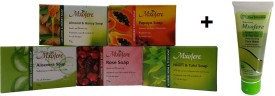 Mxofere Combo Almond Honey Papaya Aloevera Rose Neem Tulsi Soap Kit