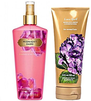 Victoria's Secret Midnight Dare Mist 250ml And Love Spell Conditioner 300 Mlcombo