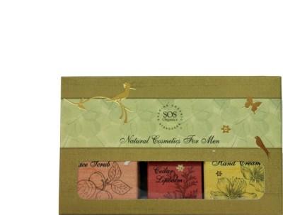 SOS Organics 6-piece Assorted, Men Natural Cosmetics Products.