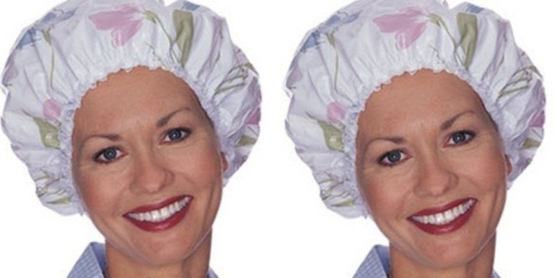 Out Of Box Reusable Elastic Water Proof Shower Cap Set of 2