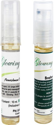 Glowing Buzz Combo of 1 Nourishment Vitamin E Oil and 1 Brahmi Essential Oil