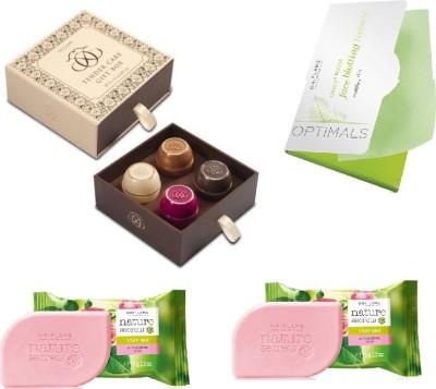 Oriflame Sweden tender care gift box-soaps-tissue combo