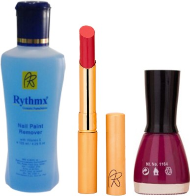 RythmX RythmX Valentino Lipstick +Nail Polish Combo 2206201624