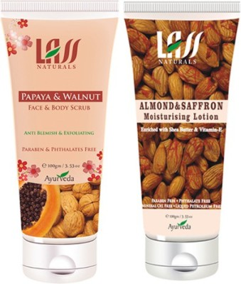 Lass Naturals Combo Of Lotion and Scrub