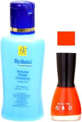 Rythmx FantasyOrange Shades Nail Polish With Extra Strenth Polish remover 48033