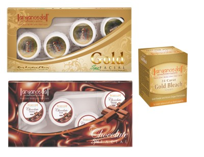 Aryanveda Gold & Chocolate Facial Kit (210gm) With One Gold Bleach (43gm)