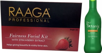 Raaga Professional Fairness Facial Kit With ProBotanix Repair & Nourish shampoo