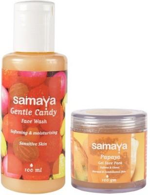 Samaya Gentle Candy Face Wash And Papaya Face Pack Combo