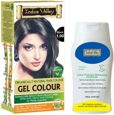 Indus valley Combo Deal- Gel Black Hair Color & Shampooing Conditioner