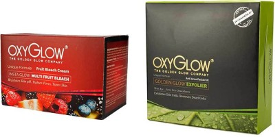 Oxyglow Golden Glowmutli Fruit Bleach & Golden Glow Radiance Anti Acne Facial Kit