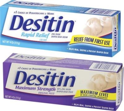 Desitin Rapid Relief Cream and Maximum Strength Original Paste