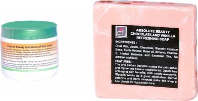 Absolute Beauty Anti Dandruff Hair Care Spa Scalp Purify Cream for Damaged + Chocolate Vanila Soap