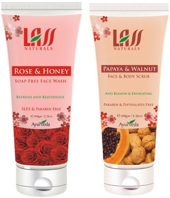 Lass Naturals Combos of Face wash and Scrub