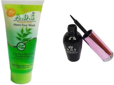 ADS 1612 Eyeliner, Neem Face Wash(Set of 2)
