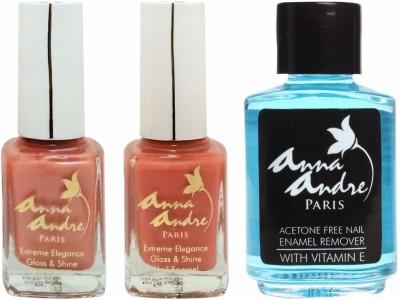 Anna Andre Paris Nail Polish - Orange Peels Duo Set & Nail Polish Remover