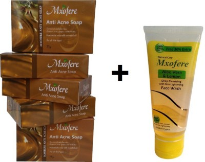 Mxofere Combo Anti-Acne Soap And Aloevera Lemon Facewash Kit
