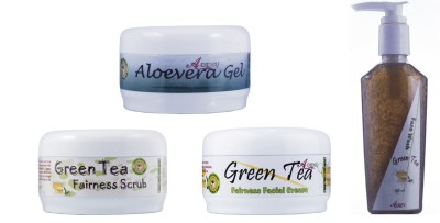 Adidev Herbals Ayurvedic Green Tea Fairness Glow Pack